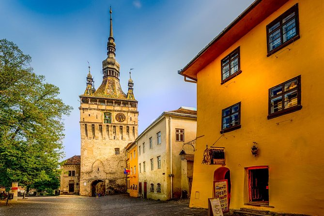 Make the most of limited time in Romania on this 2-day tour of Transylvania, with round-trip transportation included from your Bucharest hotel. Benefit from the personalized insights of your small-group guide as you explore famous landmarks such as Peles Castle, Bran Castle, Brasov, Sighisoara, Sibiu and Biertan fortified church and learn about the area's legends, culture, and cuisine from your tour guide.<br>