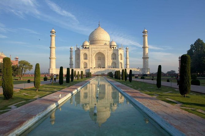 Three of India's most famous cities for sightseeing await you on this comprehensive three day, 2- night tour of the Golden Triangle: Delhi, Agra, and Jaipur. Experience some of India's most breathtaking sightseeing destinations begins in Delhi, which is considered the heart and capital of India. Explore Agra bright and early, where the sights are nestled in grand landscapes. A sunrise tour of the world-famous Taj Mahal will get you beautiful photo opportunities, then you'll see the Agra Fort, and Fatehpur Sikri  which is a deserted city said to still hold ancient spirits. In Jaipur, See Amber Fort and walk its corridors to uncover its history, learn how ancient generations used the astronomy tools at Jantar Mantar, marvel at the ornate Hawa Mahal. This is one Luxurios tour with guides provided at each sight. Round-trip AC transport from New Delhi,overnight accommodations, and <br><br>Daily Hotel breakfast included..