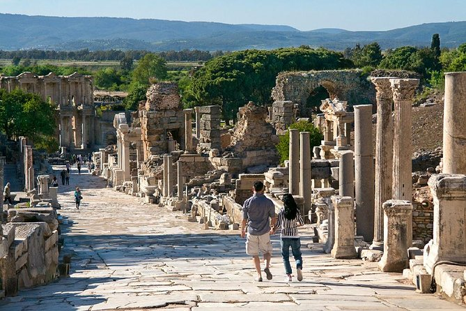 NO HIDDEN COSTS in our small group tour ( Maximum 16 guests in each bus )<br>Entrance fees, Professional licenced English speaking guide , Parking fees, <br>A/C Transportation are included.<br><br>Meeting with our tour guide at hotel lobby / Kusadasi port with EPHESUS SHUTTLE sign at pre-arranged time. We will have 20 mins drive to Ephesus area. Visit to the ancient city of Ephesus, walking in the footsteps of Alexander the Great, Caesar, Cicero, Apostles Paul and John and many other familiar historical names. Next stop is The House of Virgin Mary A lovely chapel is constructed on the site tended by Franciscans and open to visitors. It has been designated a pilgrimage site by the Pope. Our Last stop is The Temple of Artemis to see the remains of one of the Seven Wonders of the Ancient World. Drive back to Kusadasi.