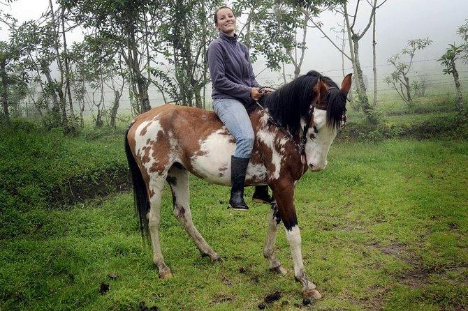 MÁS FOTOS, Private Mitad del Mundo Tour & 3 Hour Horseback Ride in Pululahua Crater