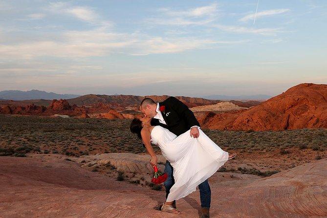 Pacote de casamento no Vale do Fogo, Las Vegas, NV, ESTADOS UNIDOS