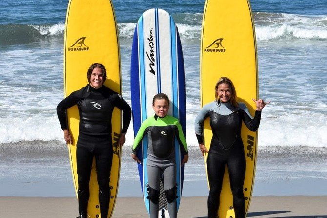 Learn to ride the waves in Malibu during a 2-hour private surf lesson. With a professional instructor, practice basic skills like paddling and standing up, or work to improve your talents if you've already surfed in the past. Lessons are available for all ages year-round; equipment is included.