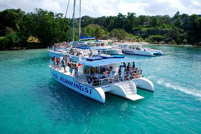 Jamaica Dunn's River Falls Party Cruise with Snorkeling, , JAMAICA
