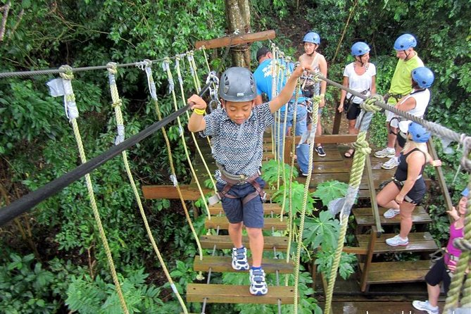 Join this half-day zip and dip adventure through the jungles of Honduras. You will also have the chance to visit the monkeys, sloths, birds and other animals also Fly across the jungle on one of the largest zip-lines in Central America. With 23 platforms this thrill ride gets your blood pumping, and has you wanting more and more after each ride. This tour is great for all ages and we accept anyone from beginners to lifelong thrill seekers. We'll make sure you are absolutely comfortable and safe so you can have the time of your life.