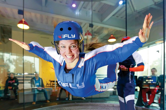 Feel the thrill of skydiving without jumping out of an airplane. It's true! Head to iFLY Kansas City, a premier indoor skydiving facility powered by a state-of-the-art vertical wind tunnel. After a training session, you'll experience free-fall conditions with the help of an instructor. No experience is necessary, and afterward, you can take home a personalized flight certificate.