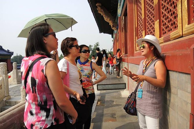 Go straight to two ofBeijing'sUNESCO Historical sites on this 8-hour small-group tour by minivan.The tour including the visit to The Temple of heaven and Summer Palace, with pearl market for bargain shopping and lunch inclusive. A local insider will give a detailed explanation on how emperors in the Ming and Qing Dynasties to worship the God of Heaven and how Qing Emperor designed a perfect garden to enjoy, relax and escape the outside world. Learn how the powerful Express Cixi controlled China for 48 years.Group size is limited to 12people to ensure more personalized attention from your guide. Entrance fees and free hotel pick up is included.