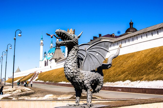 Admire the city's top architectural landmarks and iconic sites on this 5-hour comprehensive tour of Kazan. Check out the magnificent Staraya Tatarskaya Sloboda, amble down lovely Peterburgskaya and Baumana streets and make a photo stop at striking Kremlin towers and Dvorets Zemledeltsev.<br><br>Explore the Ploschad Svobodi and Kazan Federal University complex, see significant religious treasures like Saints Peter and Paul Cathedral, Cathedral of the Annunciation, Kul Sharif Mosque and Bogoroditskiy men's monastery and indulge your sweet tooth with traditional Tatar baked products.<br><br>Experience the city's perfect blend of Orthodox and Muslim world, admire gorgeous historic and brand-new architecture and uncover unique cultural highlights.
