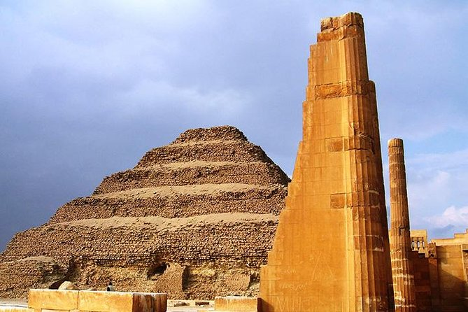 Spend the day away from your ship. First drive from Port Sokhna to Cairo, where you will be taken the Giza Pyramids. Then you will travel south to Saqqara to view the Step Pyramid from camel back and enjoy lunch in the desert before returning to Port Sokhna.