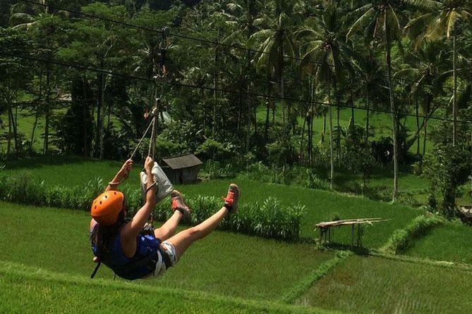 Get your adrenaline pumping on this half-day Bali tour. You'll soar through the air on the 'flying fox,' followed by a 2-hour, 8.5-mile (14-km) journey on the river through white-water rapids. Paddle past waterfalls, and enjoy an exhilarating outdoor experience away from the resort crowds. Select a morning or afternoon departure time when booking.