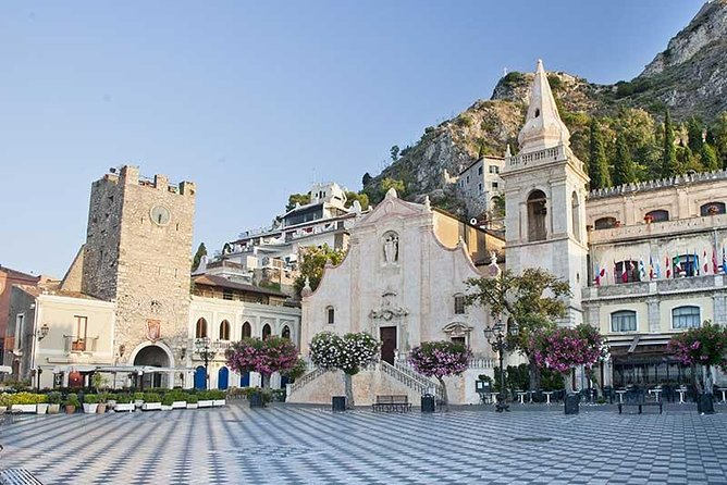 Tour to Taormina where you can visit its famous sites like the Greek theater, the Cathedral and Mount Etna and Giardini Naxos bay. Continue with a transfer to the town of Castelmola and head back to Messina.