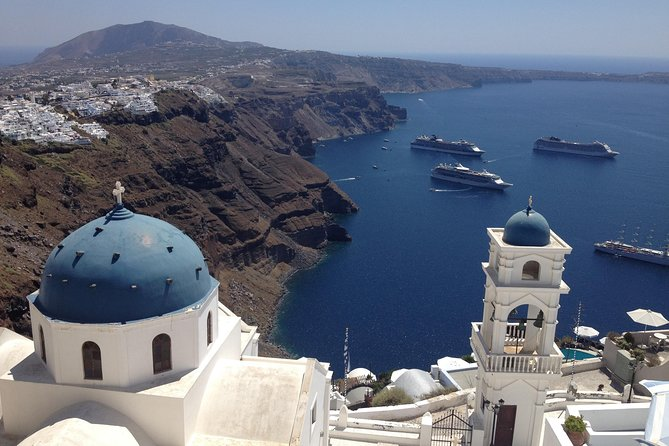 See Santorini's top sights on a 6-hour private tour that includes travel by Mercedes Sprinter minibus. View Santorini Caldera, Imerovigli, Oia, Akrotiri ruins by yourself, Red Beach, Megalochori traditional village or Pyrgos, Prophet Ilias Monastery, Venetsanos winery or Estate Argyros optional. Your private guide will entertain you with fun facts and stories about the place you see as you enjoy views.
