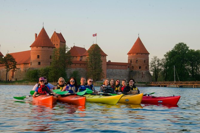 This guided small-group kayak tour in Trakai is a perfect combination of nature, history and paddling on some of the most picturesque lakes of Lithuania. Island Castle, Užutrakis Manor and the best kept secrets on and off the beaten path. The tour is safe and suitable for beginners. Swimming skills are essential, paddling experience is not necessary.