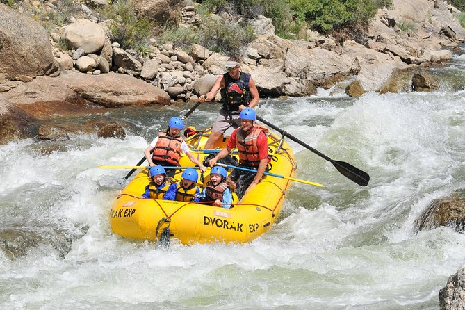 Experience a family-friendly, class II section of the Arkansas River on a half-day or full-day rafting adventure! This is the perfect section for beginners of all ages.