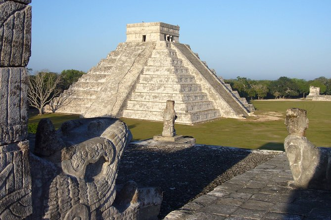 The archeological zone of Chichen Itza is a source of invaluable data for the knowledge of the prehispanic past. Because of its beauty and uniqueness, it is a cultural reference for all Mexicans, and, to a large extent, a symbol of indigenous and national identity. At present it is also a tourist destination for more than a million people who visit it every year. The most prominent building in the metropolis is the Pyramid of Kukulcán, which has become an emblem of Mayan culture throughout the world.<br><br>As a pole of tourist attraction, Chichén Itzá faces today, at the beginning of this new millennium, a formidable challenge: to achieve a sustainable development and guarantee its integral conservation, in order to preserve it and leave it as a legacy for future generations.<br><br>The area destined to the public visit has an extension of 47 hectares.
