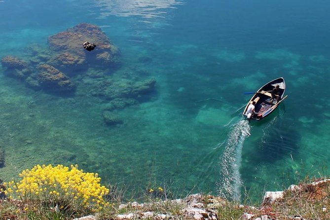 Our distinct 90 km circle tour by land, around one of the world's oldest and clearest freshwater lakes, inscribed on the World Heritage List of UNESCO, will be touched by both Macedonian and Albanian cultures, customs and attractions. <br><br>This full day circle tour around Lake Ohrid will give you the opportunity to compare the similarities and diversities of the two countries; chance to taste some delicious fresh-water fish; witness some great historical and archaeological sites and enjoy the natural beauty of the surroundings.