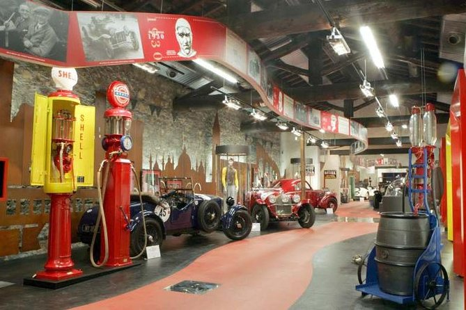 Located in a beautiful building complex of immense archaeological, historical, and architectural value, the Mille Miglia museum is dedicated to helping you appreciate the extraordinary sporting event while illustrating a cross section of Italian culture, history, and social customs.