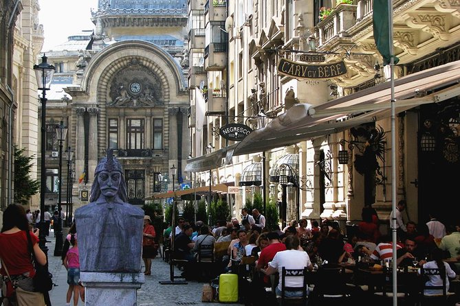 Visit the heart of Bucharest with your guide, Claire Alina. Take a walk through the famous, ancient streets of Bucharest and hear the history of this great city. See the Princely Old Court, court of Vlad Tepes, the famous Manuc's Inn and St Anton Church. Stroll down Lipscani Street which is full of shops, restaurants and bars and marvel at the eclectic mix of architectural styles which tells the story of Romania's beginnings and sometimes torridhistory.<br><br>See the newly discovered underground relics, stop for a drink, and soak up the atmosphere of beautiful and historic Bucharest.