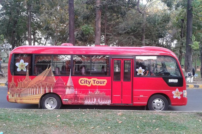 Explore Phnom Penh city with this air-conditioned Shuttle Bus! Visit the must-see sites such as Killing Fields and Prison S21 on a safe, comfy & clean tour bus. Learn the history of the city and the country.