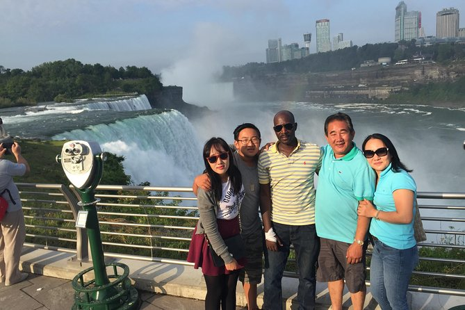 See powerful combination of 3 separate waterfalls that make up Niagara Falls that must be seen in person to realize their magnificence. You will meet at one of the DC area airports and jump on a commercial plane for a 1.5-hour flight to Buffalo, NY. <br><br>You will be met by a driver who will transfer you into the heart of the Niagara Falls action –in front of the famous Maid of the Mist. This tour includes a ticket on this famous sightseeing cruise, getting you right up close to the thundering falls!<br><br>Stroll the city to visit aerospace and science museums, casinos, observatories and much more. For the only panoramic view of all three Niagara Falls the clear choice is Niagara Falls Observation Tower. <br><br>After working up an appetite, enjoy lunch at Hard Rock Café Niagara Falls. Your trip includes a 2-Course Lunch which will fuel you for some afternoon excitement. <br><br>At the end of the day, you'll be shuttled back to Buffalo airport. Take a 80-minute snooze on the plane back to Washington DC.