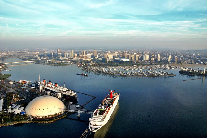 Cruise over downtown Long Beach and the historical Queen Mary on this private helicopter tour. You'll then soar over the port of Long Beach and Los Angeles while climbing up to get spectacular views of Catalina and the L.A. Basin.
