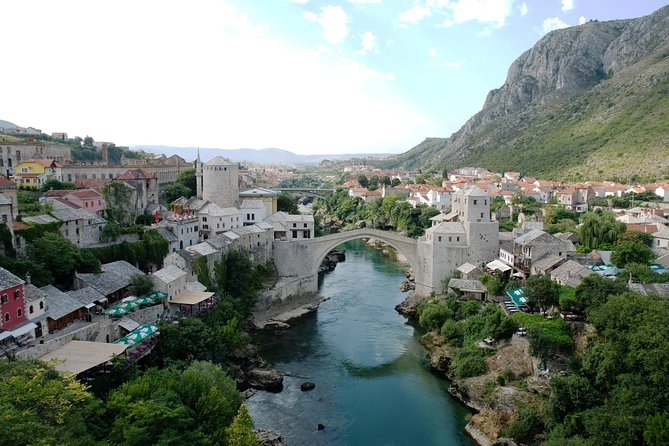 Discover Mostar, known as a window to the Orient. See the old Turkish bridge that's a symbol of the city and explore the old bazaar. Visit the famous pilgrimage site at Medjugorje, where the Virgin Mary is said to have appeared to local children. <br><br>Mostar as the center and capital of Herzegovina has always managed to captivate its visitors a unique experience of mixing cultures of East and West. It is situated on the Neretva River, which separates and connects both the Muslim and the Christian side of the city.<br><br> The Old bridge is a world-famous symbol of the city, which with mosques, Turkish houses and other closely eastern sights makes Mostar a destination everyone will remember.