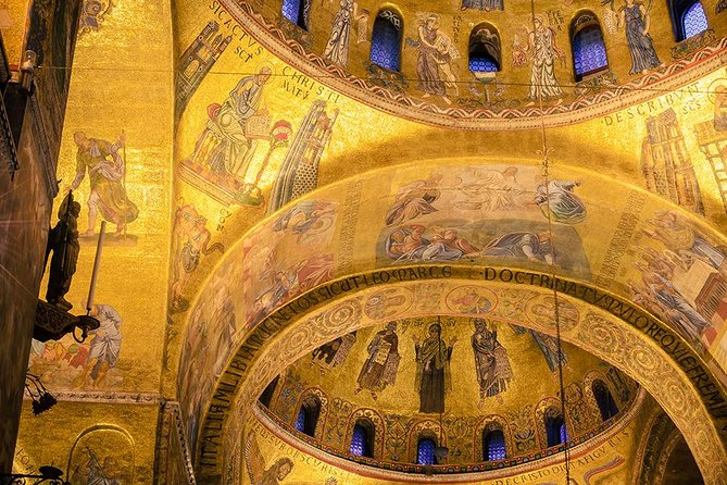 Due to Covid19, until the end of 2020, this tour will be amended to ensure your safety:<br>-If you book a private tour you will have a private tour guide, but you may have another Walks group inside the Basilica at the same time.<br><br>Explore St Mark's Basilica without the crowds on an after-hours tour, and enjoy an optional visit to Doge's Palace, if you wish. Inside St Mark's Basilica, admire treasured mosaics and a Byzantine altarpiece, and then follow your guide into the crypt where St Mark himself is believed to rest. Upgrade for late access to the Doge's Palace and learn about the Higher Council Hall, the Doge's apartments and the Bridge of Sighs as you explore. Numbers are limited to 15 for a small-group experience.<br><br>Upgrade your tour to include a 2 hour late entry tour of the Doge's Palace, including the armory, New Prisons and incredible council rooms and frescos of Palazzo Ducale.