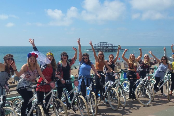 Brighton is one of the UK's top Hen Party destinations. Why not make yours truly memorable by starting with a bike tour of the city? You can take in the bustle and beauty of our gorgeous city, visit its iconic landmarks and maybe sneak a pub stop in along the way…<br><br>Our tour guide knows the city like a second skin and will be able to advise you on places to enjoy during your stay. Fancy dress optional (a Unicorn head-dress and tutu are quite acceptable day wear in Brighton!)<br><br>Please Note: You will not be covered by Brighton Bike Tours Public Liability Insurance if you commence the tour under the influence of alcohol, or if alcohol is consumed during the bike tour. Brighton Bike Tours cannot be held liable and take no responsibility under these circumstances.