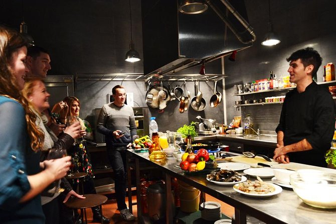Enjoy a 2.5- to 3-hour interactive cooking experience with a local chef. Visit the La Boqueria market before preparing tapas, paella, and sangria. You will then be able to sit down and enjoy the freshly made meal.