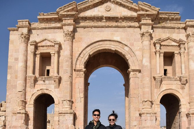 This is a three day private tour (Group Tour Option is available too ) for 1-7travelers visiting Jerash, Ajloun Castle, Petra, Wadi Rum, and the Dead Sea. One night sleep hotel in Amman with breakfast, and one night at a Bedouin camp in Wadi Rum with breakfast and dinner plus two hours Jeep tour at Rum Valley.This tour can be either private tour or small group tour based on your selection.