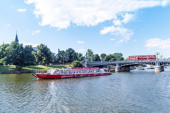 Estocolmo em ônibus e barco vermelho com várias paradas, Estocolmo, Suécia