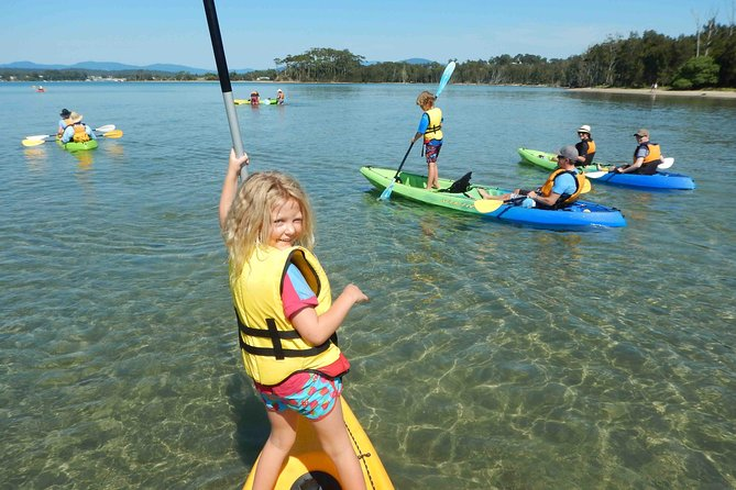 Explore Batemans Marine Park in a glass-bottom kayak, an innovative vessel that allows for wildlife viewing while staying on top of the water. During this 2.5-hour tour with a guide, view the underwater world of Batemans Bay as you look for marine life such as stingrays and blue swimmer crabs. Select a morning or afternoon tour when booking.