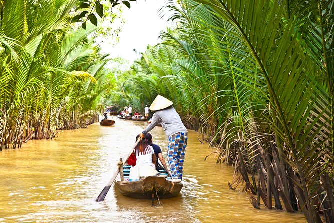 This tour is very suitable for all people who loves to visit the rural area of the Mekong Delta in Southern Vietnam. You will be visiting some attractions like: Vinh Trang temple, Visit My Tho and Ben Tre where are the heart of the Mekong Delta region. Cruising on the motor boat along Tien River, paddle along the small canals on a rowing boat.