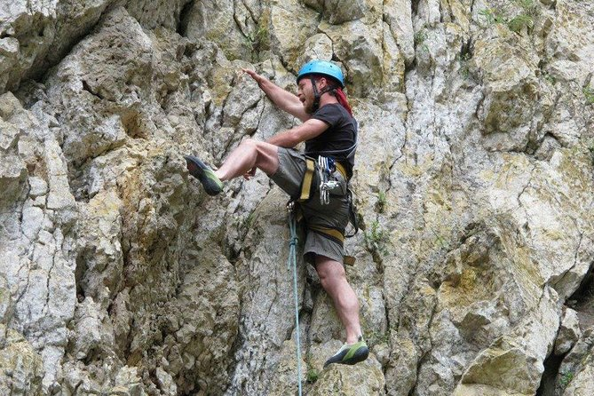 Learn the basics of rock climbing in Zarnesti Gorges while enjoying breathtaking views and the largest bear reserve in the world with this 12-hour full-day tour from Bucharest.
