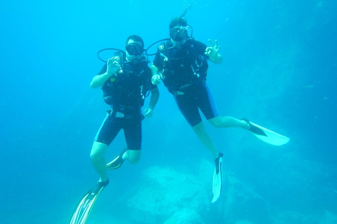 Try Diving is for people that never dived before. One of Scuba diving instructors will teach you the basics of Scuba diving after which you will do two dives (50 minutes each) with the same instructor. If you decide to do a full dive course after the try dives, we will refund 80% of the Try Dive costs.