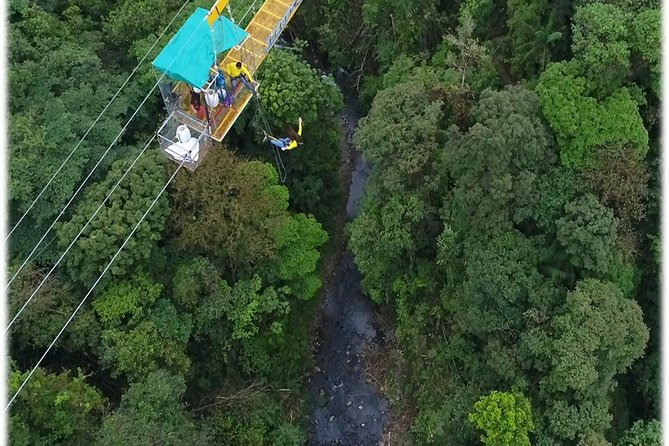 Experience the combination of Bungee jump ( 150 meter) above La Balsa riverand canopy zip lining inside beautiful cloud forest include hanging bridge , Tarzan swing and the longest and most exciting cable of Superman. All under the watchful eyes of our professionals guides