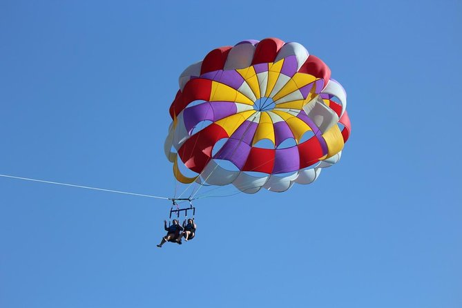 Come fly in the beautiful US Virgin Islands, and experience the thrill of an offshore powerboat ride, parachuting, ballooning and gliding, all in one action packed adventure at a fraction of the cost. Peopleages 6 and up can be accommodated, so with the 100% safety record, parasailing in St Thomas is fun for the whole family!
