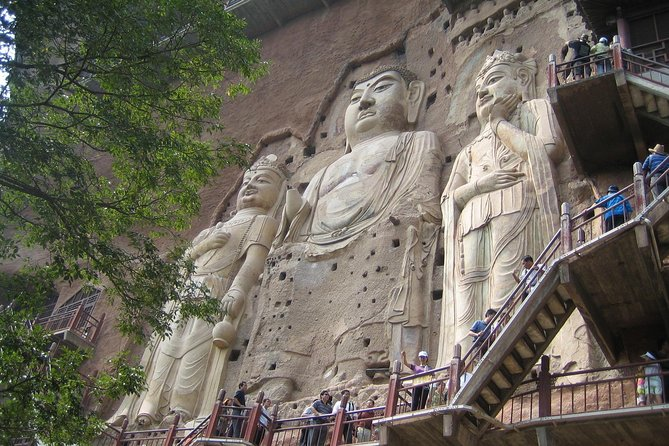 """Tianshui city has 2,700 year of history with a civilization stretching back to 8,000 years ago. As the origin of Chinese civilization, Tianshui precipitates the essence of development of human.<br><br>Maiji Mountain looks like a """"wheat stack"""", there are morn than 7,200 stone carvings and clay sculptures preserved very well, also called """"Museum of the Oriental Sculpture """"<br><br>This private tour will show to visit the Maiji Mountain Grottoes in the morning or in the afternoon."""