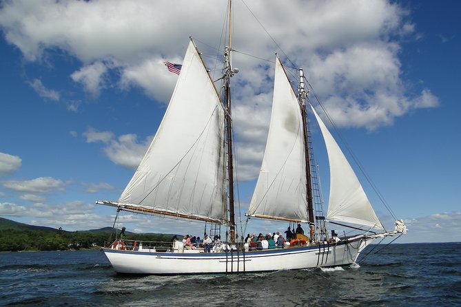 See the best ofCamdenwhilesailing Maine's magnificent rocky coast on the elegant Appledore II! Feel like an adventurer from the 19th century while enjoying state-of-the-art accommodations on a modern windjammer. With wide decks, you can stroll and take in the sights without needing to duck the rigging. At only 49 passengers, there is abundant seating on which to make yourself comfortable for your intimate daytime sail.