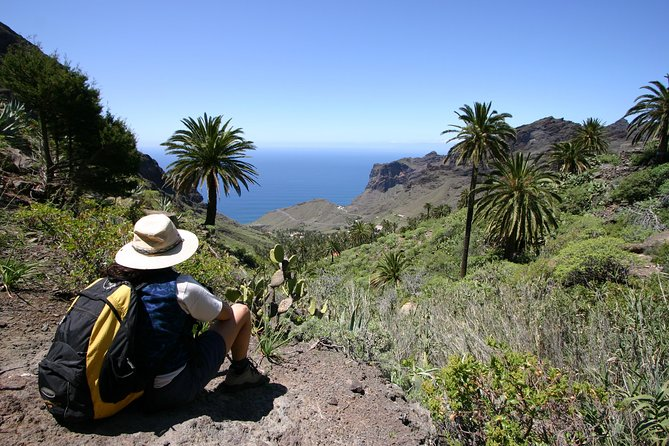"""Together we explore the island by bus and thereby discover the most important landmarks of La Gomera. After a first stop at the Mirador de Palmarejo, the restaurant designed by César Manrique, we drive to the potterers of El Cercado, whom we'll look over the shoulder. On we go via Chipude into the national park with direction to Hermigua. On our way we'll take a short walk, afterwards we drive to the village of Agulo, the """"Bombón de La Gomera"""", situated on a plateau. On we go to the visitors' centre of the island, where we have lunch together. Then we drive to the """"holy"""" springs of Epina via Vallehermoso. A day full of impressions and contrasts ends with our return to Valle Gran Rey."""