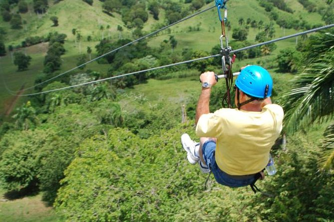 Enjoy 8 ACCT certified zip lines at Country World Adventure Park, with a total of more than 7,900 feet, or 1.5 miles, on double, galvanized aircraft cables. No experience is required. Contrary to most zip line parks you are not involved in any active breaking, like using gloves for stopping. The guides do the job, and you enjoy the ride. Small children can also go together with their parents or one of the guides.