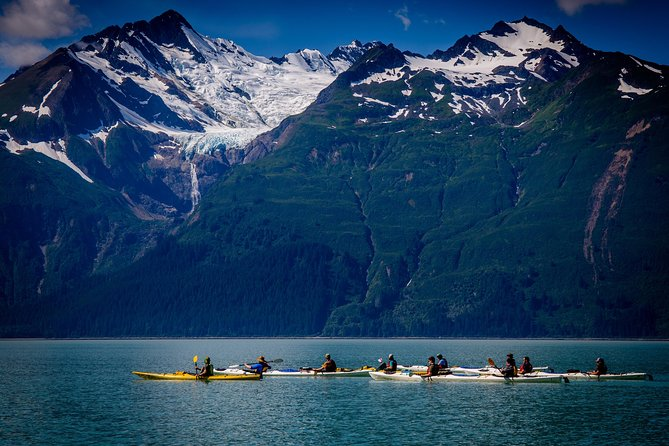 Explore the beautiful waters of southeast Alaska on a kayaking trip of a lifetime. Your expert guides will outfit you with all of the necessary gear and provide instruction for all ability levels. Once on the water, you'll experience the astonishing scenery of the Inside Passage by water as you paddle in your two-person kayak. Your adventure is capped with a beach side lunch with spectacular mountain and ocean views in the background.
