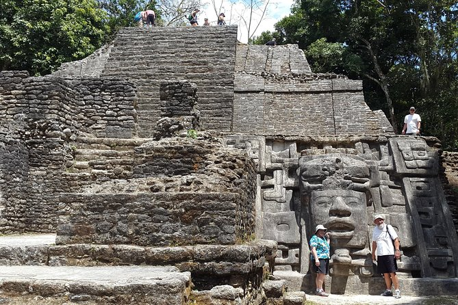 Enjoy a full-day guided tour of the Lamanai Temples, ball-courts and museum, departing from Belize City. Embark on a river cruise, bird watching, then explore the Mask Temple, the High Temple and Jaguar temple and learn the history behind those sites from your guide. Take in the panoramic views and vibrant nature surrounding you on this small-group tour. Birdwatching, listening to the Howler Monkeys. This tour includes lunch, hotel/airport pickup and drop-off, entrance fees and transfer by an air-conditioned minivan.