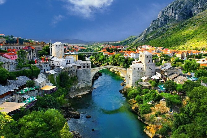 Visit the historic city of Mostar in southern Herzegovina, in which intertwine the two religions and two ways of life. It's known for the iconic Stari Most (Old Bridge), UNESCO World Heritage. The nearby alleys are full of shops and market stalls, and the Old Bridge Museum explores the bridge's long history.
