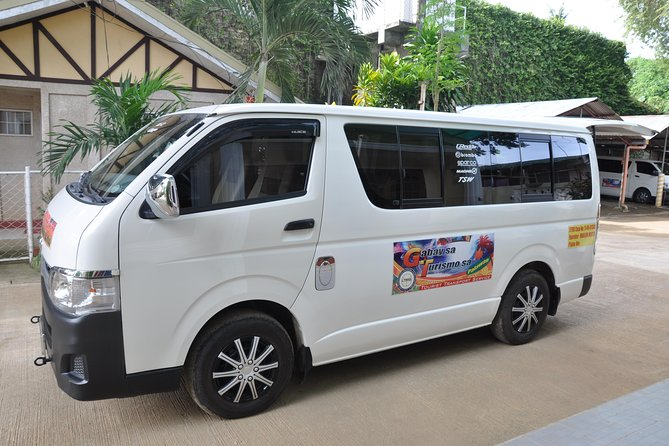 Escape the crowds and restrictions of typical tours.Book your own private van to travel downtown of Puerto Princesa Palawan. Your Professional Driver takes you to locations of your choice in style and comfort on a tour that runs for 4 hours or 8 hours depending on your choice.<br><br>Private city sightseeing van. Choose a 4 hour or 8 hour tourvan with your own private driver.<br><br>Option 1 - For 4 hours : Visit places such as Bakers hill, souvenir shops, binuatan handweaving exhibit , plaza cuartel, cathedral. baywalk.<br><br>Option 2 - For 8 hours: Visit heritage museum during weekdays ( monday to friday only) ; World War 2 museum,Bakers hill, binuatan handweaving exhibit , plaza cuartel, cathedral. baywalk, Pearl and Souvenir shops.