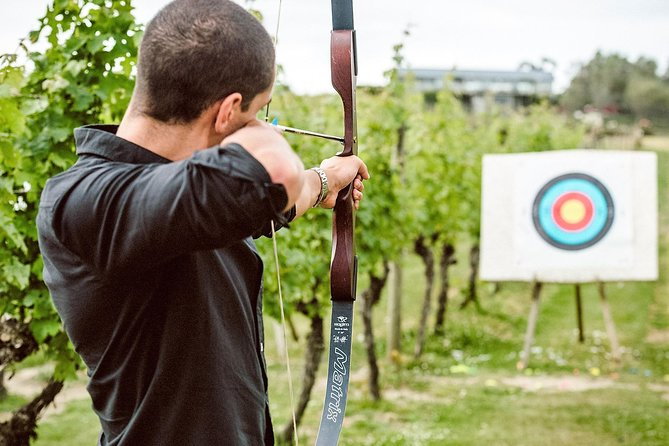 Do something completely different by signing up for a unique archery adventure among a picturesque vineyard on Waiheke Island! Once you've mastered archery you can try out your rifle skills and shoot flocks of virtual pigeons on our laser claybird shoot! You get 1/2 hour at each activity, making it a fantastic 1-hour combo!