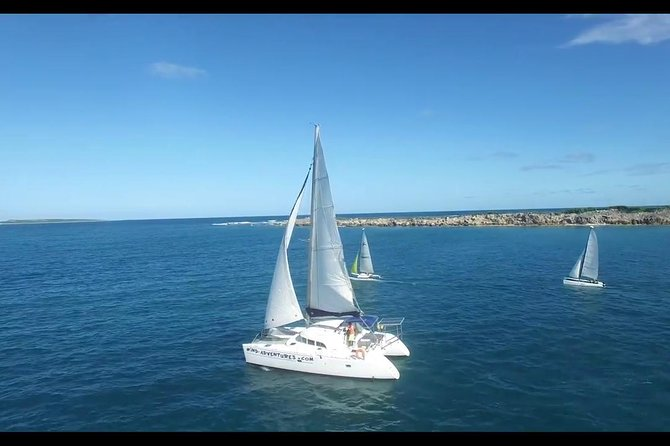 Enjoy a full day private sailing trip in the beautiful Marine Park aboard a 38 ft catamaran (up to 12 persons), sail to Tintamare island and snorkel with colored reef fish, sea turtles and relax on the beach. Sail to Creole rock (best snorkeling) and discover Pinel island.