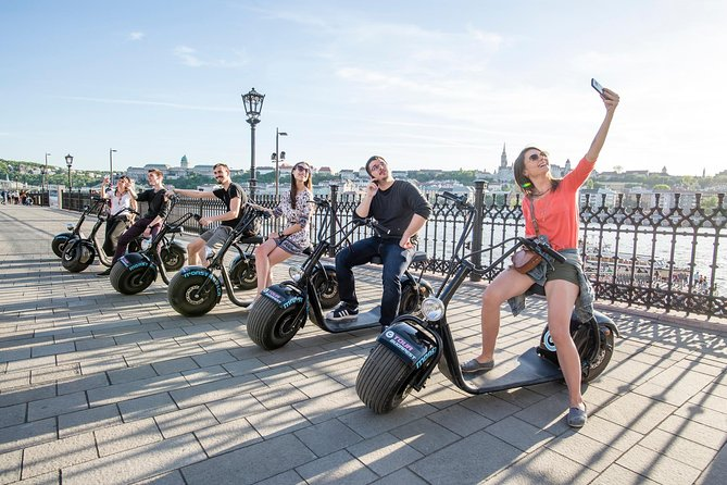 Turn the city of Budapest into your playground on this small-group electric scooter tour for up to 15 people. MonsteRoller electric scooters feature 9.5 inch wide wheels, a low platform and zero emissions. The handling feels more like surfing than riding and makes them easier to ride than a bicycle but stable and robust as a scooter. Your 90 to 180 minute guided tour will take you around the city with a freedom like no other mode of transportation - with a serious fun factor. Minimum driving age is 14 years; no drivers license required.