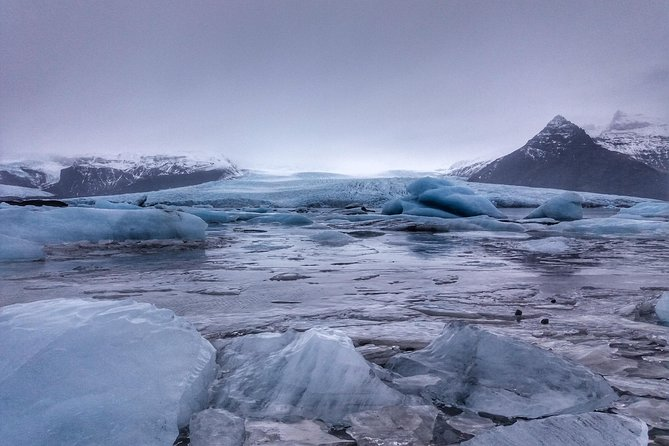 On our Glacier Lagoon day tour we'll go for a drive along the South coast of Iceland heading to Europes largest glacier; Vatnajökull. Vatnajökull is the largest ice cap in Iceland, covering more than 8 percent of the country. In total Vatnajökull covers 8,100 km2 (3,100 sq mi) which is about the size of Delaware! <br><br>As we arrive to Vatnajökull National Park you'll start to feel the true force of nature, which becomes parent when we reach the large glacial lake Jökulsárlón on the south-east corner of Vatnajökull National Park. The lagoon developed after the Breiðamerkurjökull glacier started receding around the 1930s. The lagoon has grown since then at varying rates because of the melting of the glaciers. <br><br> Don't miss an opportunity to witness the true force of nature.