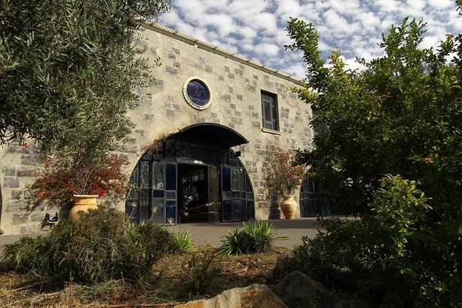 "Olea Essence Visitors Center Qatzrin<br><br>In the ancient Jewish city of Qatzrin<br><br>""Olea Essence"" Olive Oil Press is a unique place in the ancient Jewish city of Qatzrin in the Golan Heights. Our Olive Oil Press produces one of the world's best extra virgin olive oils. We also produce 100% Natural Skin Care Products, all based on this olive oil. <br><br>We offer guided tours to our ecological olive oil press and olive oil skin care center in Qatzrin. We explain the process starting with olive harvesting through olive oil pressing all the way to olive oil based fully natural skin care production. The tour includes a short film. The visit finishes with a gourmet tasting of our different flavors of extra virgin olive oil and a visit to our shop selling our famous olive oils and Olea Essence Natural Cosmetics."