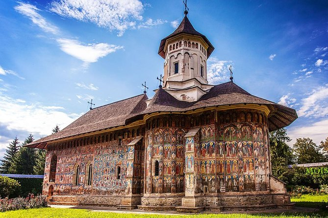 "Get a complete 4 days tour to the amazing Bucovina and Transylvania region in the north-central part of Romania, departing from Bucharest. <br><br>Visit the painted monasteries of Bucovina, listed by UNESCO as a World Heritage Sites: Voronet – known as ""The Sistine Chapel of the East"", an emblematic painted church, build more then 500 years ago, with well preserved frescoes, Sucevita - where you will visit the largest painted convent, very similar to a fortress and Moldovita - with it`s golden and deep blue paintings on the exterior walls, completed in the XVI-th century.<br><br>In Transylvania you will discover the most important attractions: Sighisoara, one of the most beautiful, best-preserved and still inhabited medieval citadels in Europe, the authentic Saxon houses of Prejmer and fortified churches, Brasov - a medieval city founded by german colonists on XIII century, the legendary Dracula Castle in Bran and the stunning Peles Royal Castle in Sinaia on Prahova Valley.<br><br>"